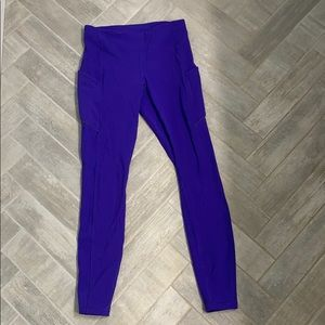 Purple Hugh waisted lululemon leggings